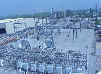 Substation controls electricity fed in from Southern California Edison and distributed to residents